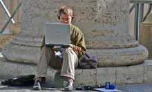 Journo at work