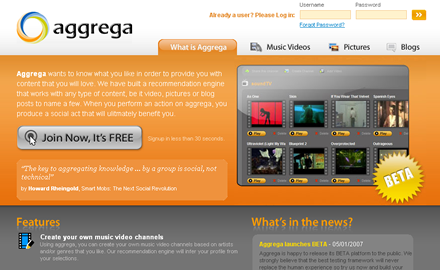 snap aggrega Aggregas Pandora for Videos