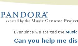 Pandora music recommendation service