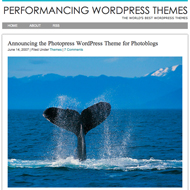photopress Performancing releases WP theme for photobloggers