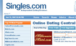 singlesdotcom Singles.com adds social networking elements to site