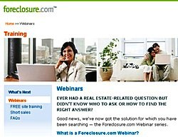 foreclosure Foreclosure.com launches online Webinars