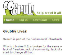 grub Wikia acquires distributed search project Grub