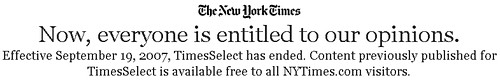 nytmes The New York Times now totally FREE