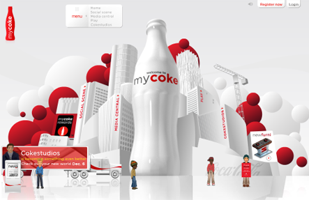 mycoke New Coca Cola virtual world launches in There.com