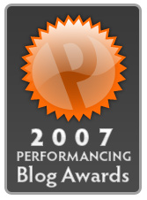 perfaward Call for nominations for the 2007 Performancing Blog Awards