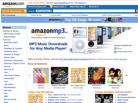 amazonmp3 Amazon to rollout Amazon MP3 overseas this year