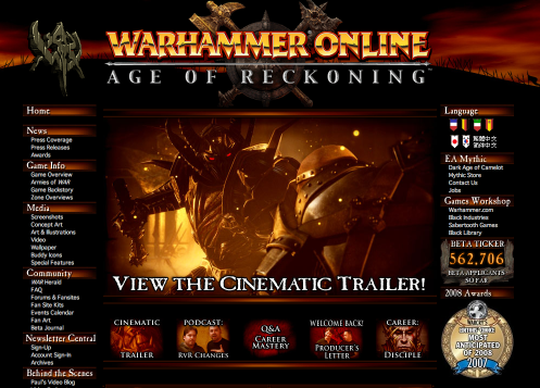 warhammer EA, Gigamedia agree to operate MMORPG Warhammer Online: Age of Reckoning in Taiwan