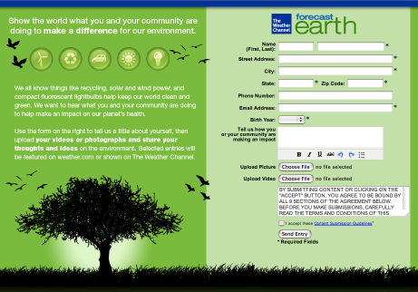 weather The Weather Channel launches user generated Earth Day campaign