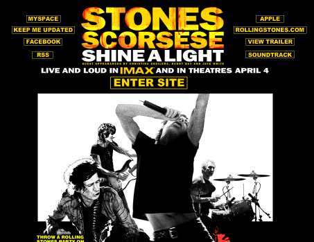 stones Shine A Light makes its debut via imeem