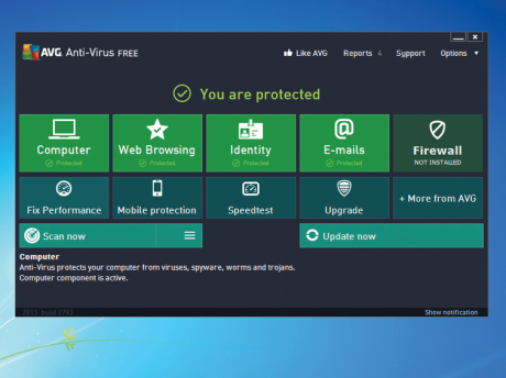 AVG Free Anti Virus 460x344 Awesome Yet Free Antivirus Programs That Offer Various Protections