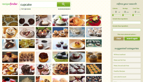 Cupcake Image Results 460x265 Recipe Search Engine Opens Up New Dimension to Cooking