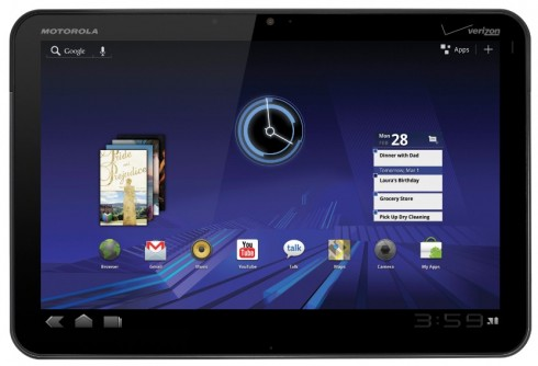 Motorola Xoom tablet 490x334 Why Motorolas Xoom Wont Threaten The iPad