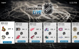 NHL GameCenter Live Home Screen 300x187 Boxee Brings NHL Game Center Live to its Updated Service in Beta