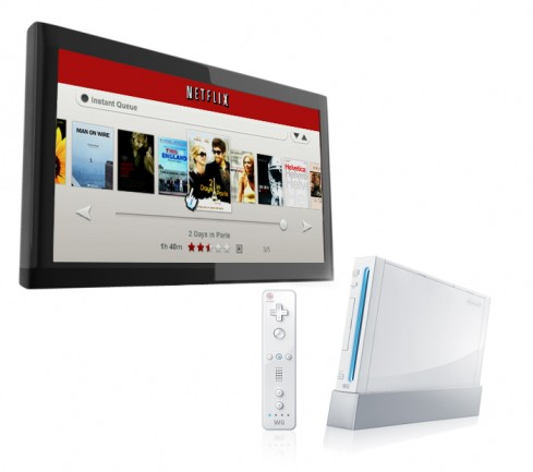 Netflix Wii TV 489x433 Nintendo Wii to Get NetFlix Streaming Video Service