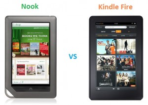 Nook Vs. Kindle Amazon, B&N Both Break Street Dates for Kindle Fire, Nook Tablet Sales
