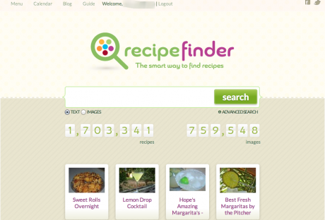 Recipe Finder Home Page 460x312 Recipe Search Engine Opens Up New Dimension to Cooking
