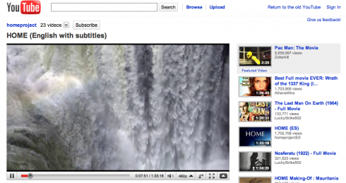 Screen shot 2010 01 22 at 4.03.38 AM 490x259 YouTube Tests a Cleaner, Less Cluttered Video Page