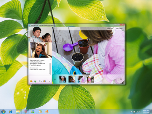 SharingVideoCall small 490x367 Microsoft Previews the New Windows Live Messenger