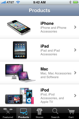 appleappstore1 Apple Snubs iPad, Launches iPhone App For Apple Store