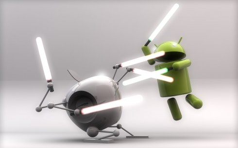 applevsandroidphonewars 490x306 Android, iOS Prepaid War May Squeeze Out Rivals