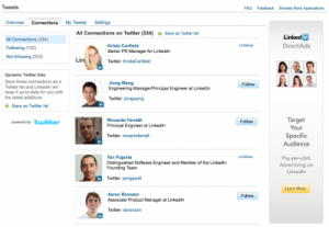 connections 300x207 LinkedIn Becomes More Integrated with Twitter