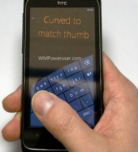 curvedy keyboard 273x300 Microsoft May Introduce Curved Onscreen Keyboard for Windows Phones