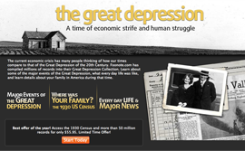 depression Footnote.com releases Great Depression Collection