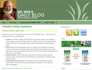 drweil Dr. Andrew Weil launches daily updated blog
