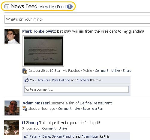 facebook homepage Facebook Puts Highlights Front and Center on Homepage