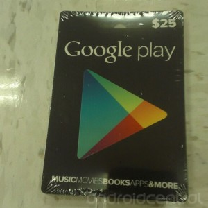 Google Play Gift Cards Released