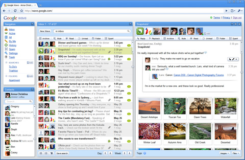 google wave snapshots inbox Google Wave, one step closer to the Google OS? No way, its even no Beta.