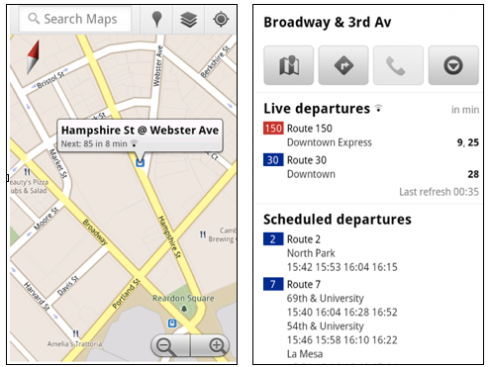 googlemapslivetransit 490x367 Google Maps Takes The Pain Out Of Bus Waiting