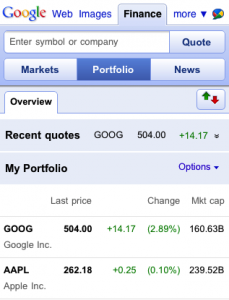 googlemobilefinance3 229x300 Is Google Giving Up On Native iPhone Apps?