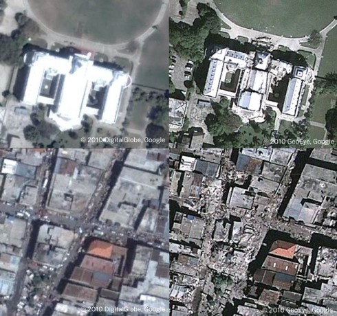 haiti palace downtown 490x460 Google Crisis Response to Help the Victims of the Haiti Earthquake