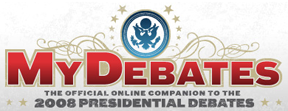 mydebates MySpace, Commission on Presidential Debates launch interactive toolset for MyDebates.org