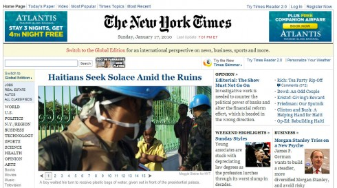 newyorktimes 490x273 New York Times to Charge for Access to its Online Paper