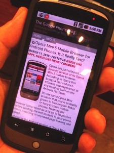 operamininexusone 225x300 Opera Mini 5 for Android Promises Faster Web Browsing, Almost Failed