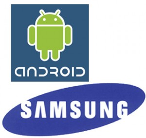 samsung android logos 300x285 Samsung to begin paying royalties to Microsoft