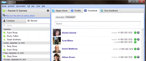skypefacebook 490x206 Skype Plus Facebook Equals Death To Google Voice?