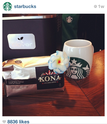 starbucks products Top Brands Utilizing Instagram
