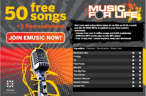 tiscali music for life banner 489x322 Tiscali launches Music for Life download service