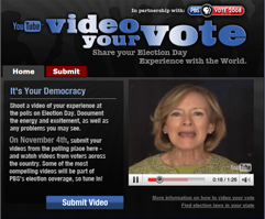 videoyourvote YouTube, PBS is asking you to Video Your Vote